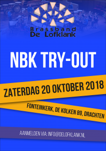 Try-out 20 oktober te Drachten